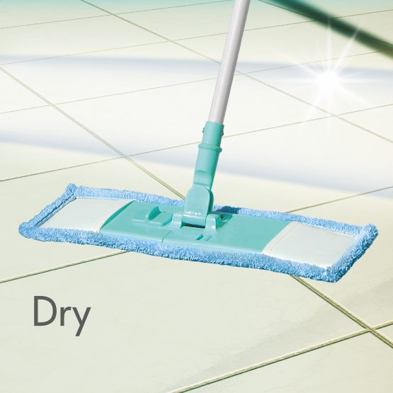 MICROFIBER FLAT MOP- WET & DRY CLEANING